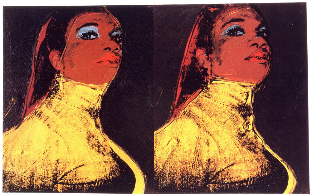 Andy Warhol, Ladies and Gentlemen, 1975. Synthetic polymer and silkscreen ink on canvas, in 2 parts, Collection Stephanie Seymour, Courtesy The Brant Foundation, Greenwich, Conn. Art © 2014 The Andy Warhol Foundation for the Visual Arts, Inc./Artists Rights Society (ARS), New York