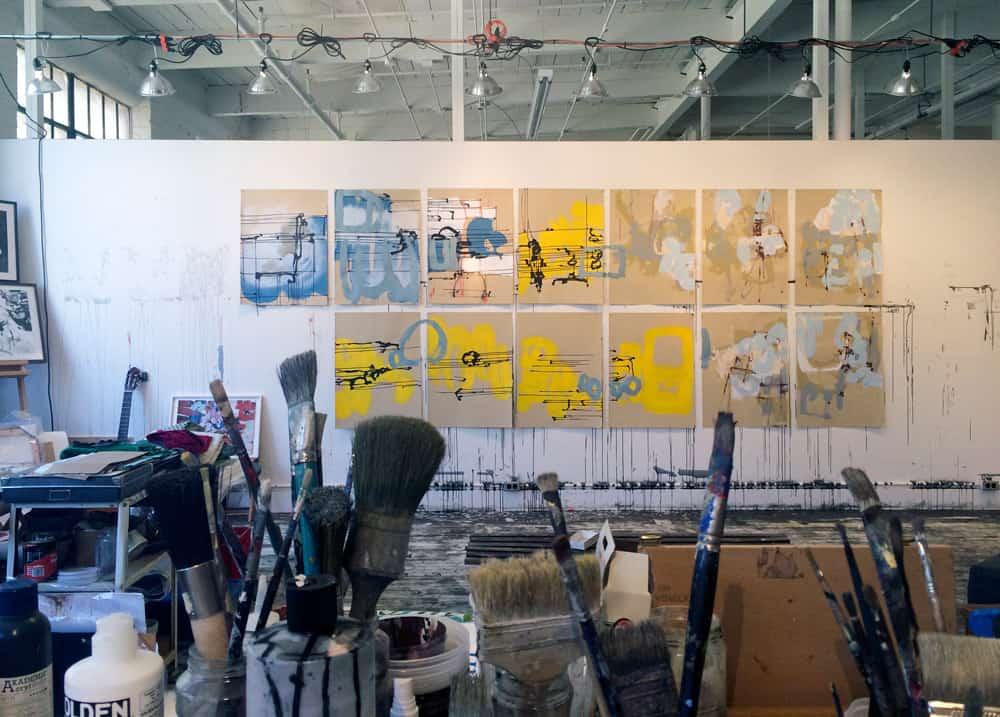 Anna Schuleit Haber's studio
