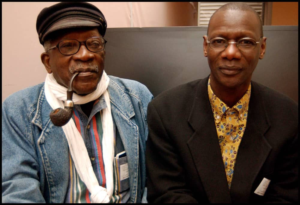 Ousmane Sembène, left, with Samba Gadjigo | Photo courtesy of Samba Gadjigo