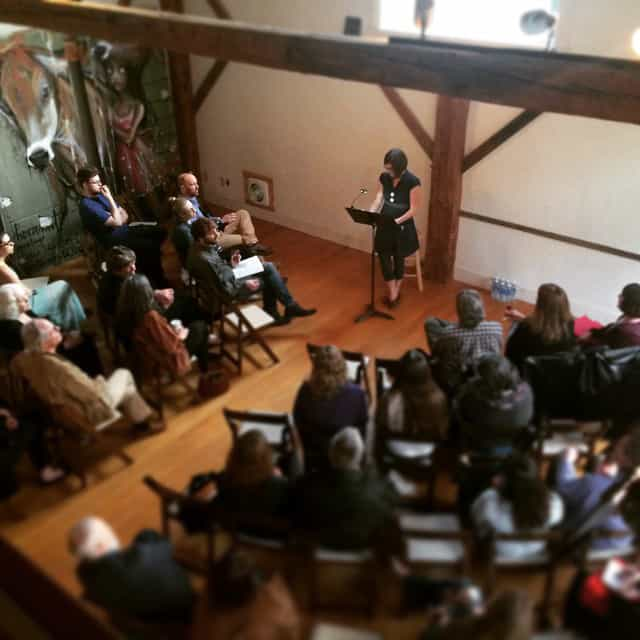 Silo Series founder Sarah Anderson introduces the readers | Photo by Ben Anderson