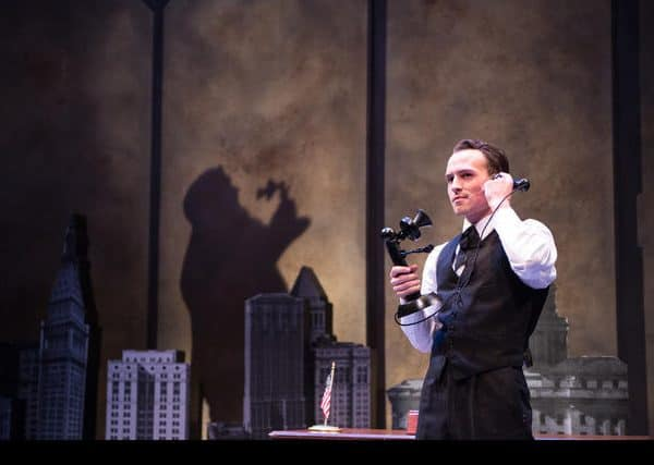 Austin Lombardi as Fiorello LaGuardia. Photo by Emma Rothenberg-Ware