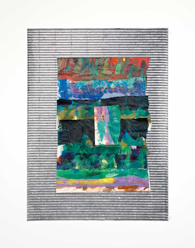 1997, acrylic paint on tissue paper, on foiled corrugated board by Eric Carle