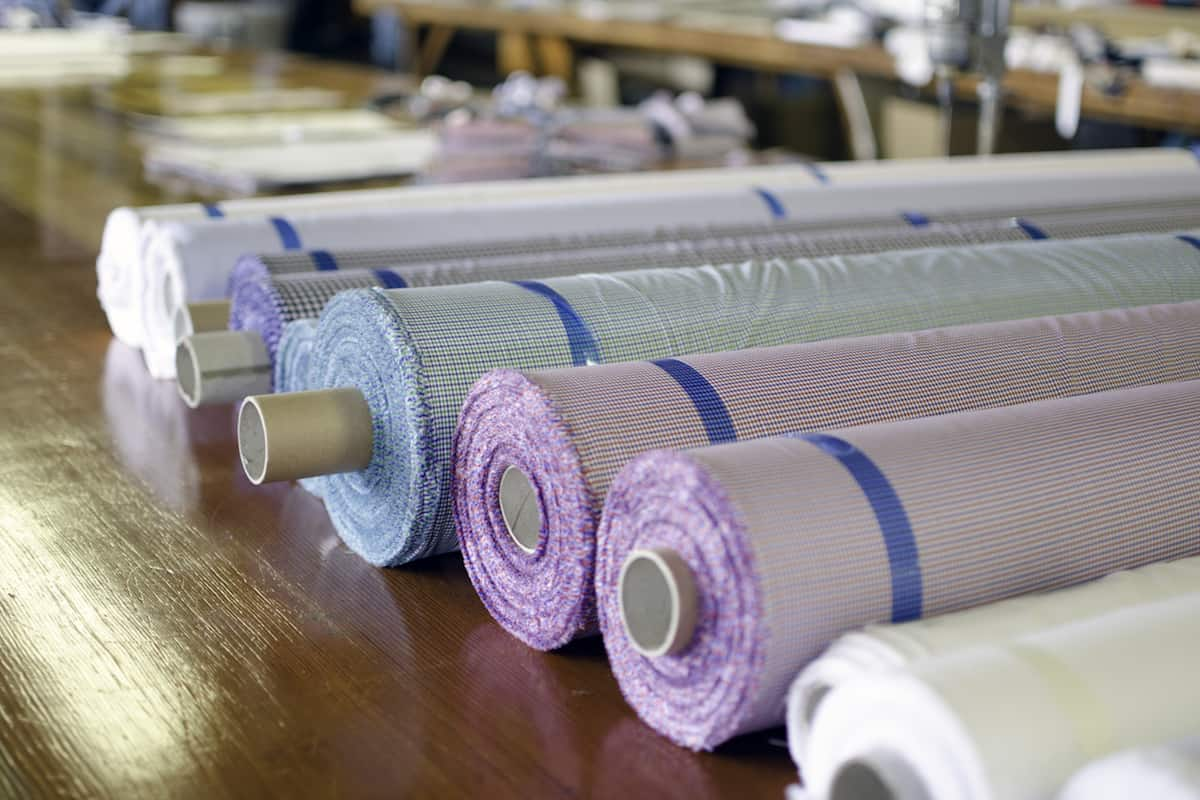 Italian Fabric Rolls | Photo courtesy Tuckerman & Co.