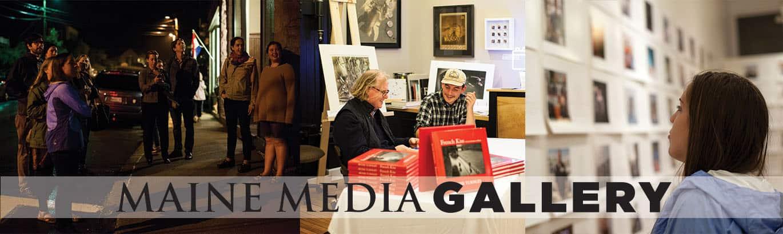 The Maine Media Galery showcases multi-media works. Photo courtesy Maine Media Workshops + College website