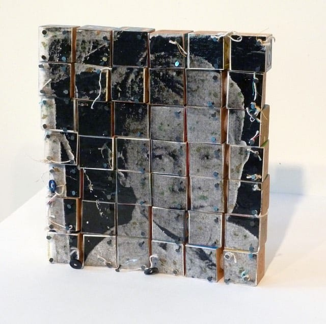 Block Portrait, 2010 | mixed media on blocks