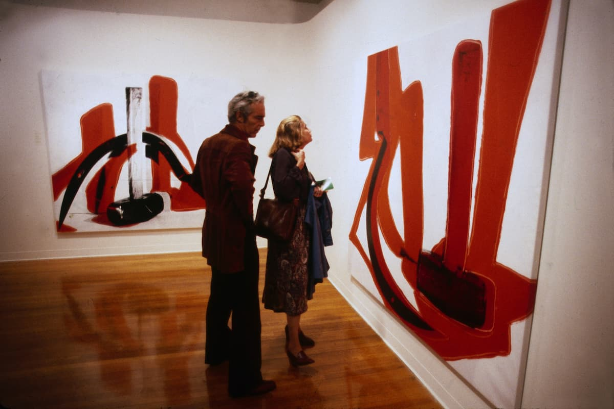 An Andy Warhol exhibition in the MATRIX gallery of the Wadsworth Atheneum Museum of Art in 1979.