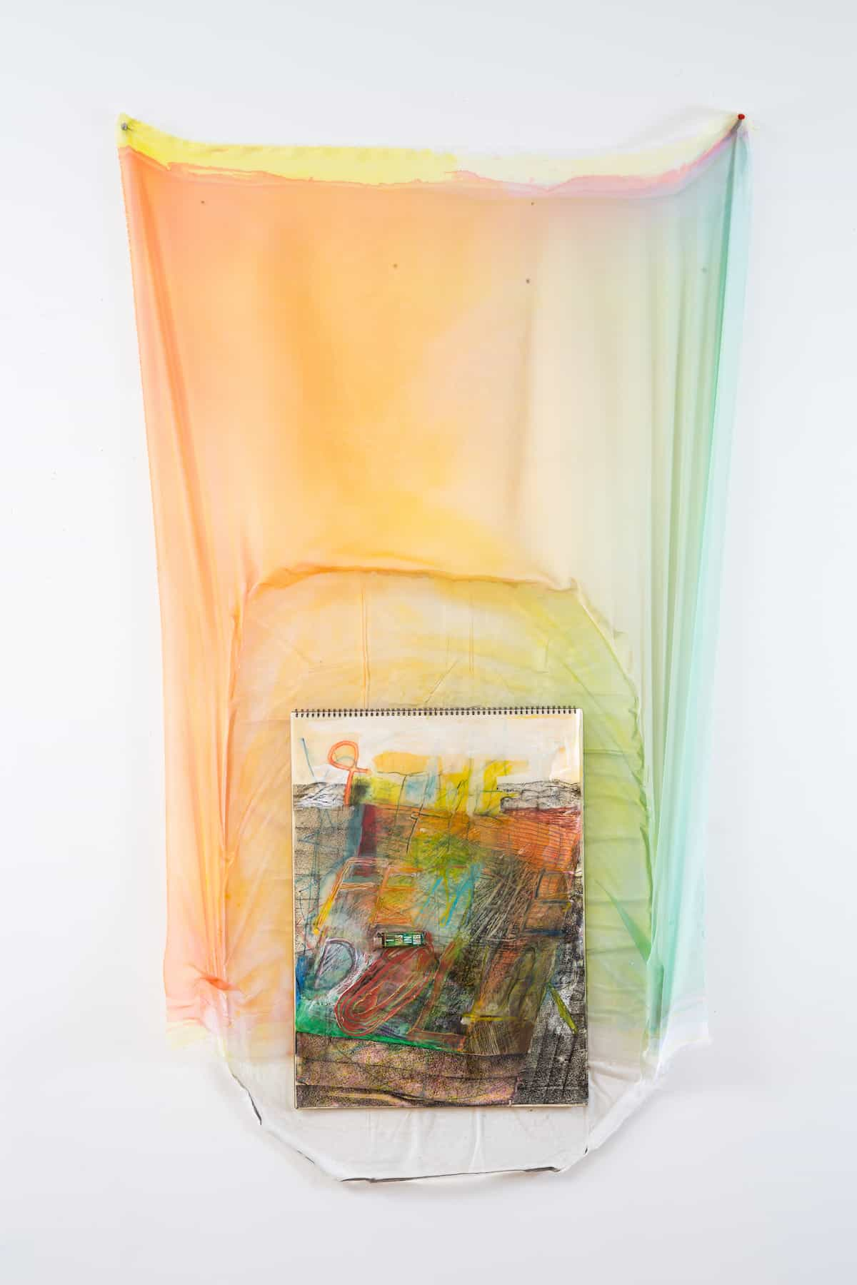 deCordova biennial The Female Dollar, 2015 | Heather Leigh McPherson | painted chiffon, cast epoxy, drawing pad, lighter | Courtesy of the artist