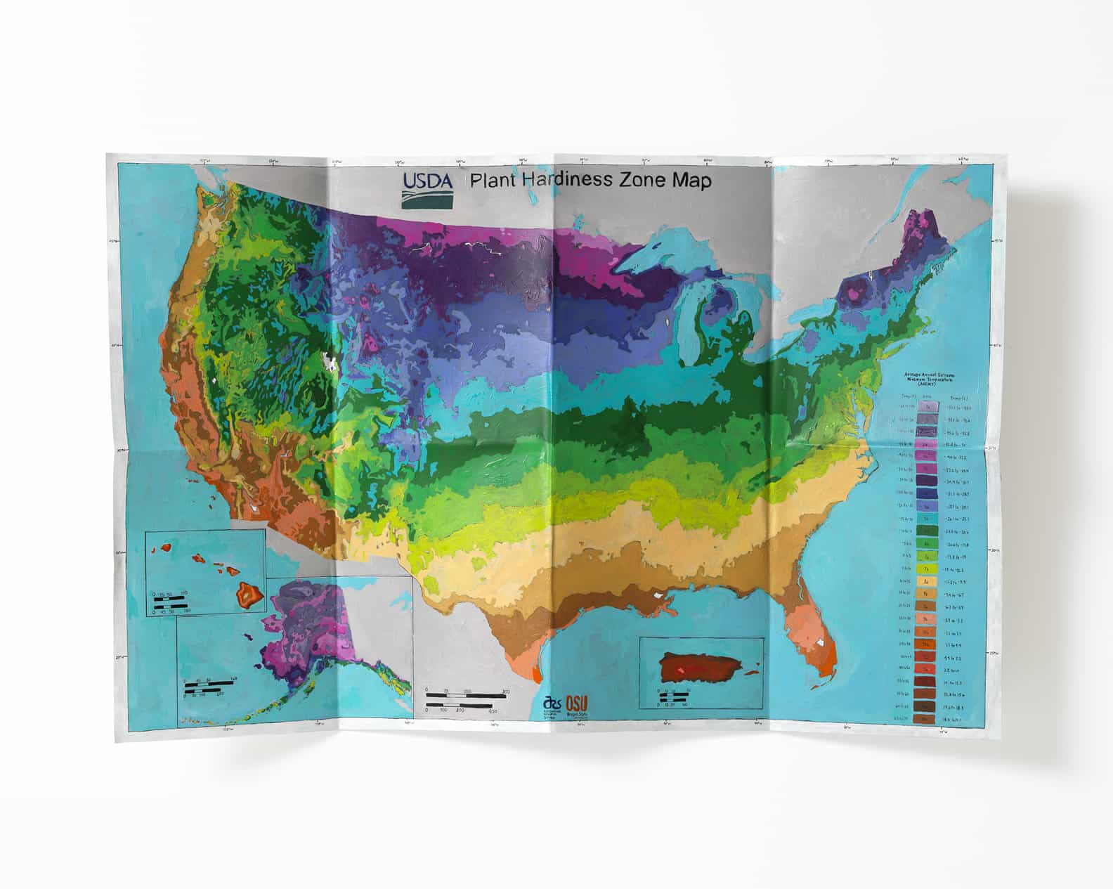 Carly Glovinski-artist-Dover-New Hampshire Untitled (plant hardiness zone map photo by Stewart Clements
