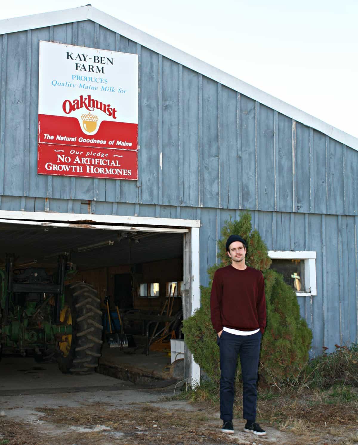 Eben at the family farm in Gorham, ME.