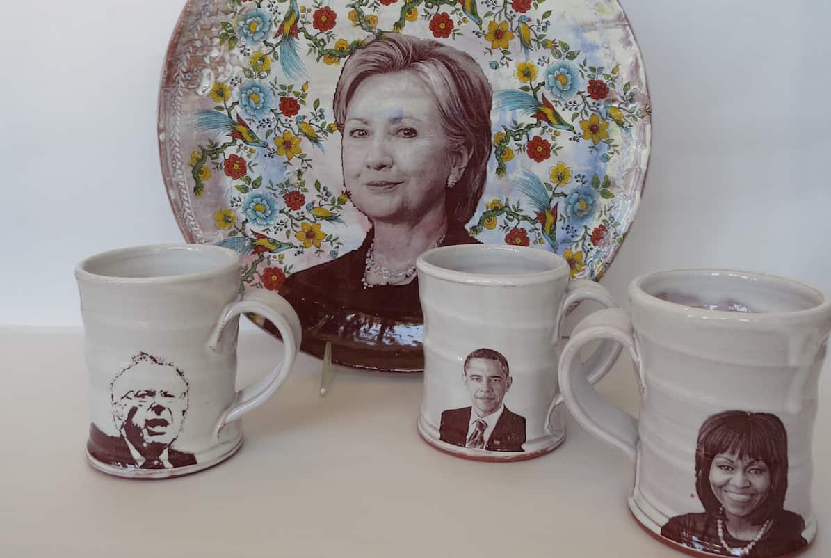 Terracotta Presidential-ware by Justin Rothshank | Photo courtesy Pinch Gallery