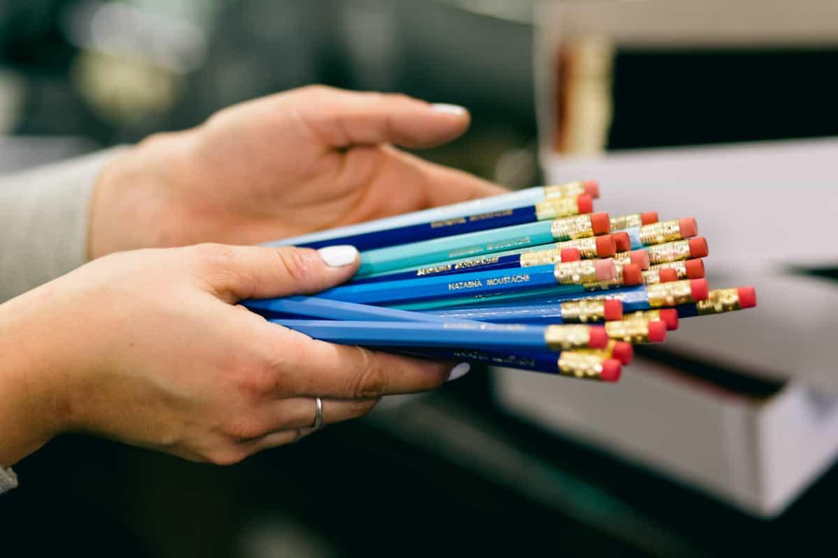 Custom pencils by DWRI Letterpress, Providence, RI