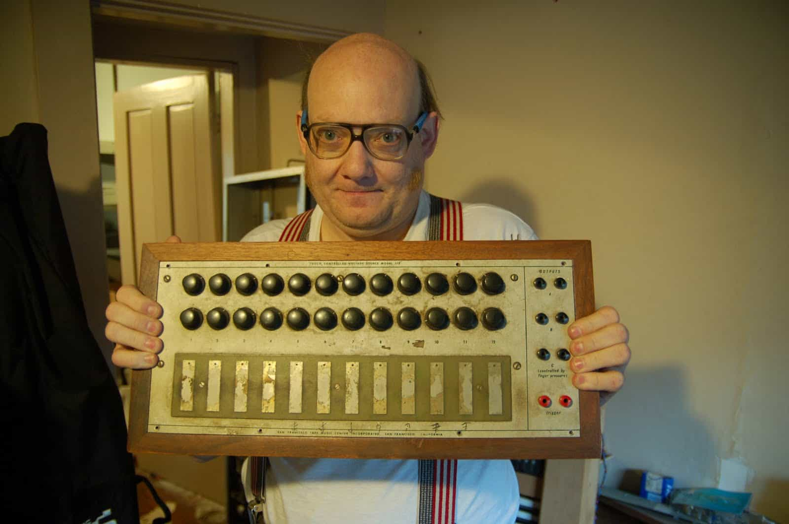 David Hillel Wilson in his home | Photo courtesy Matrix Synth