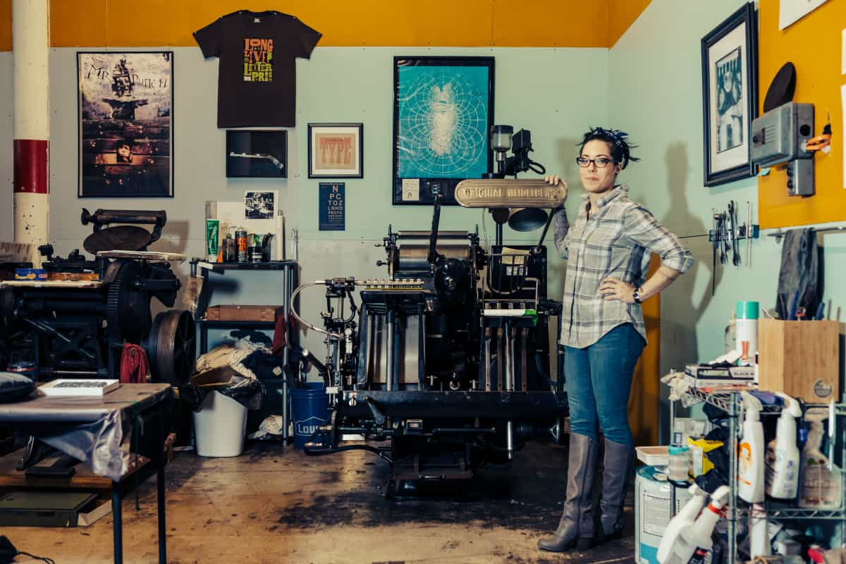 Nicole Monforti from Headcase Press in New Bedford, MA | All photos by Natasha Moustache