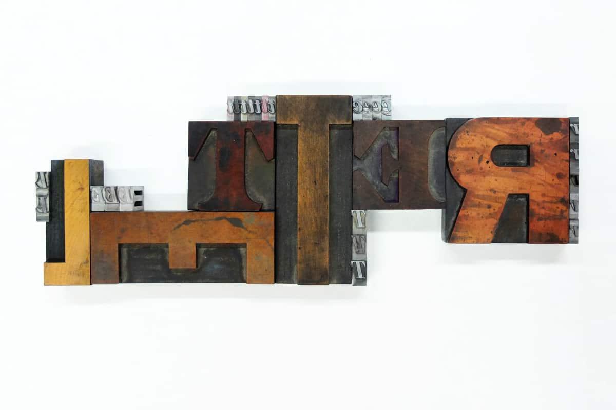 Letterpress arrangement designed by Jan Šabach