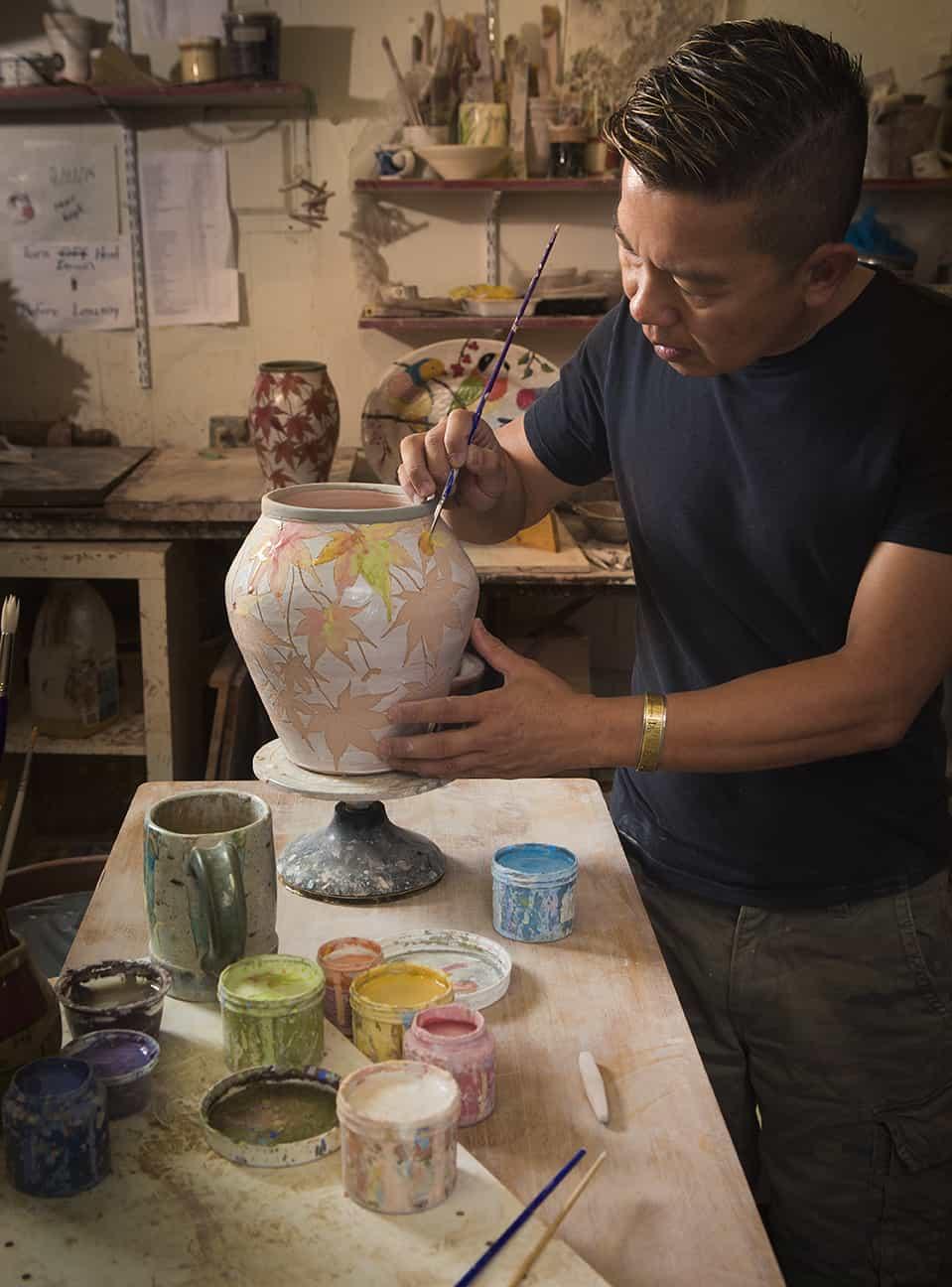Dwo Wen Chen in his studio | All photos courtesy Three Wheel Studio website