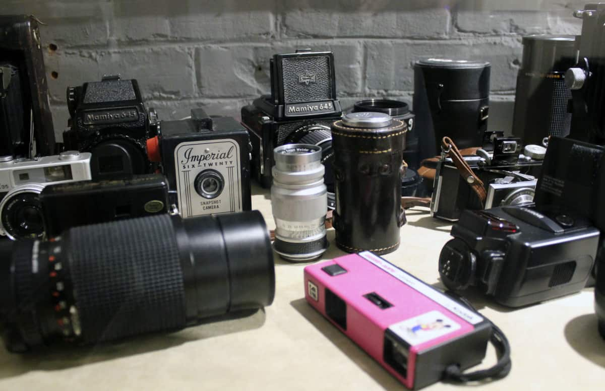 Cameras for sale at Vermont Center for Photography | Photo by David Neilson