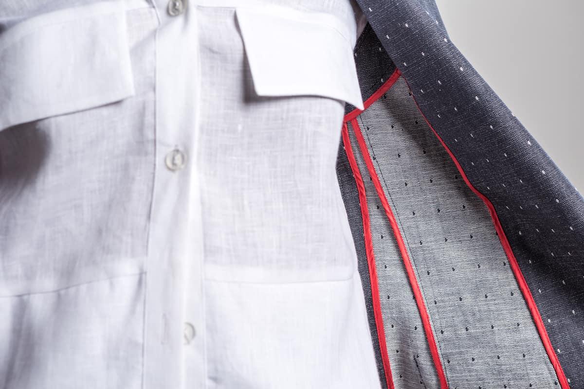 Detail of Neville Wisdom coat