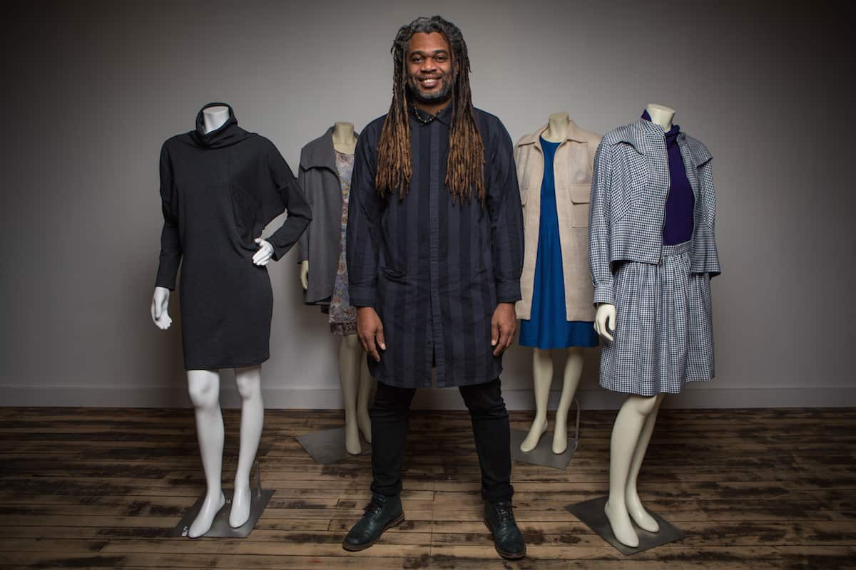 Neville Wisdom with pieces from his collection.