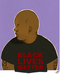 Self portrait #art #artist #blacklivesmatter #blm | Photo via Joel Christian Gill's Instagram