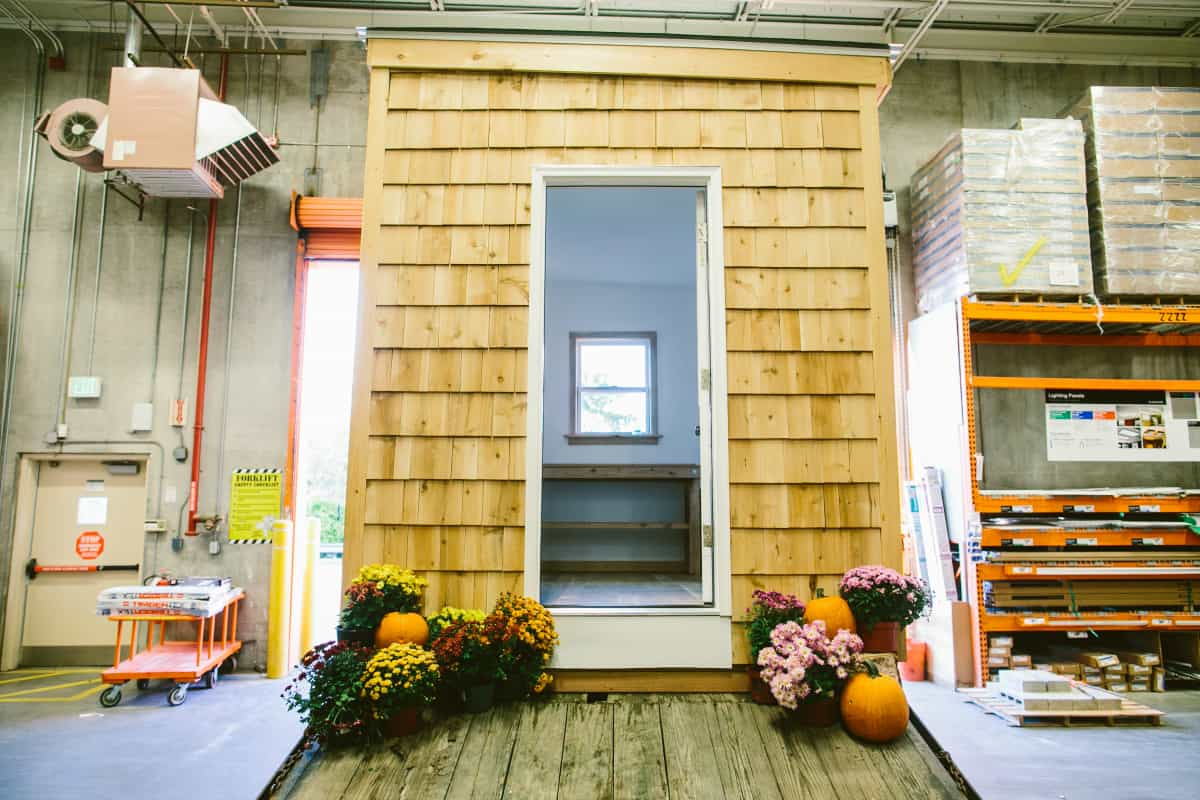 Home Depot House, 2013. Designed and installed in collaboration with store employees inside Home Depot store in Providence, RI | Photo by Shane Godfrey