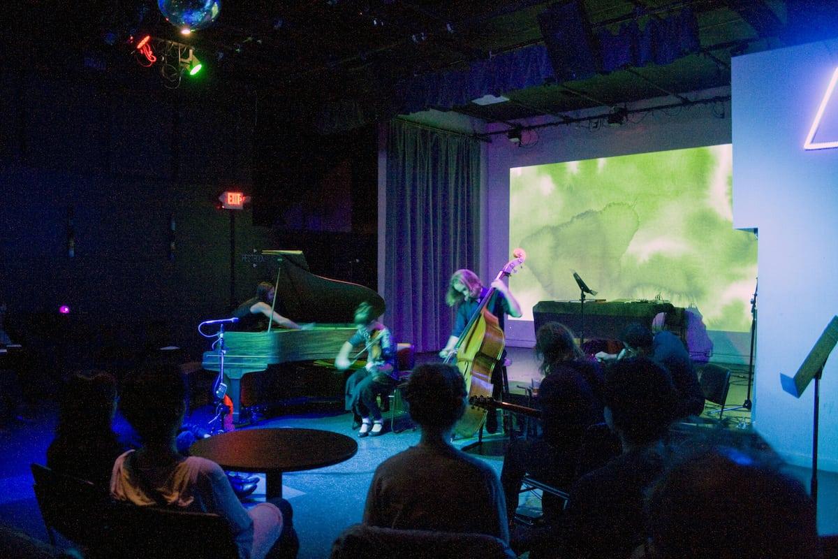"Verdant Vibes performs ""Mother, Mother Ocean,"" a group improvisation at Aurora, December 2015."