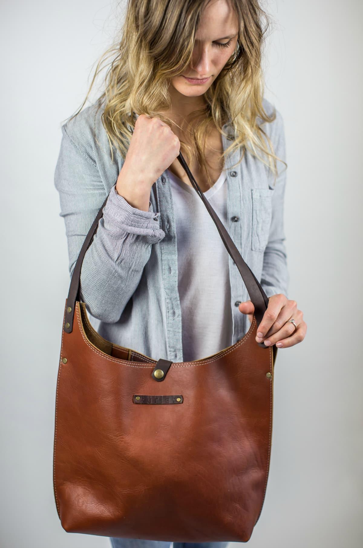 Jasmine Clayton, Kurier handbags, Portland Maine