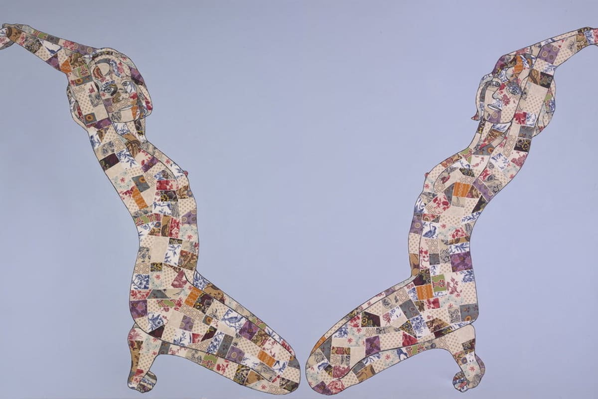 Lisa A. Foster, Tied, 2010 46 x 60 in.