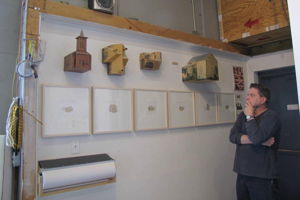 Frank Poor at his studio in Cranston, Rhode Island