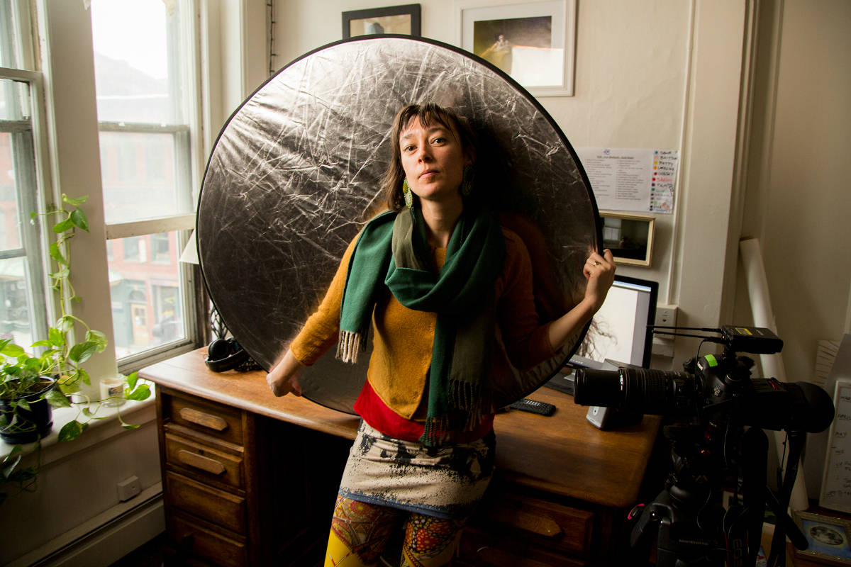 filmmaker Willow O'Feral, photo by Brad Heck, Vermont