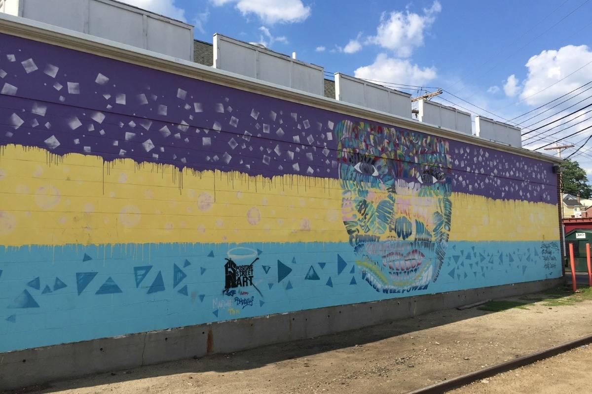 Mural by Positive Street Art, Manuel Ramirez, Nashua New Hampshire