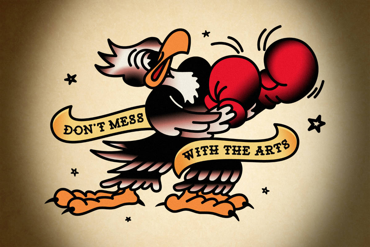 Ink for the Arts, Cuseum, Brendan Ciecko, Dont-Mess-With-The-Arts (1)