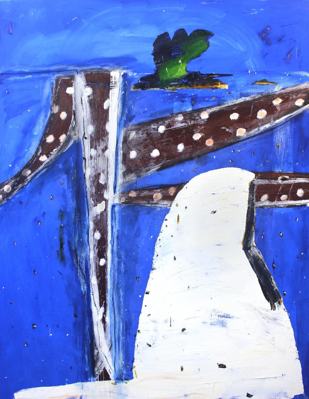 White Reach #2, John Walker, painter
