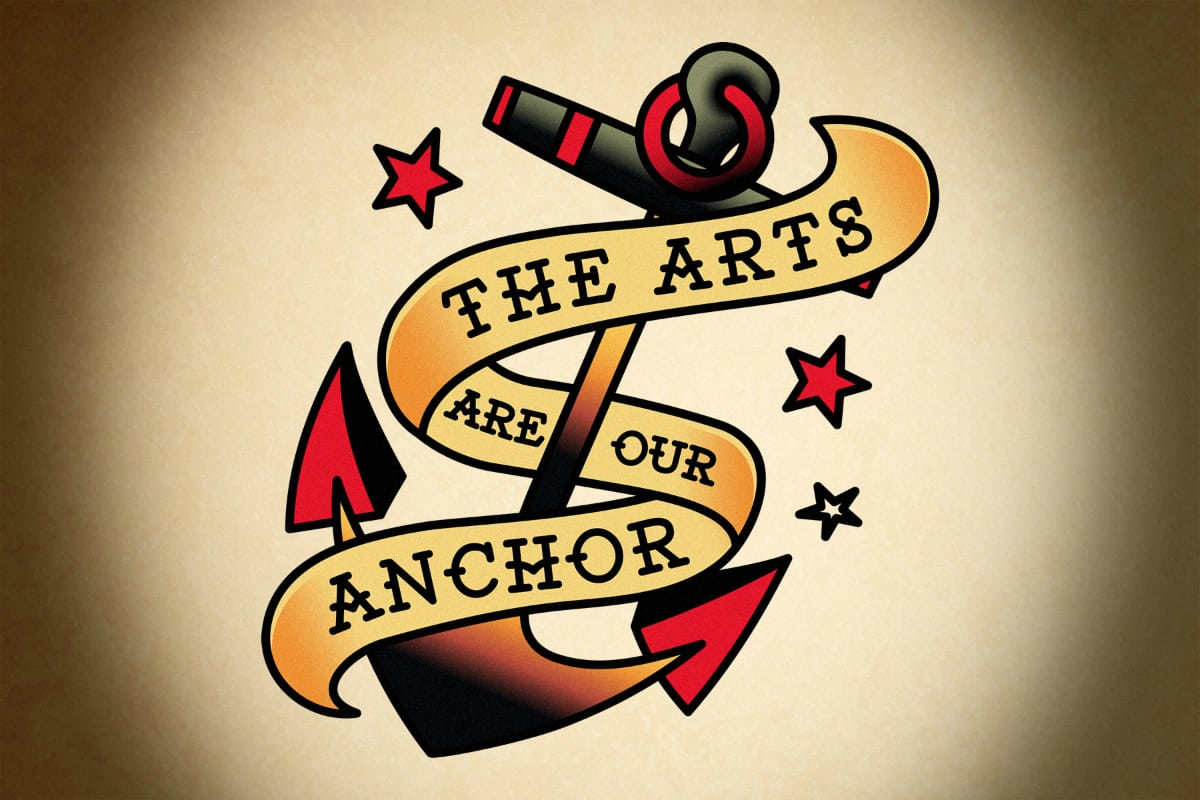 Ink for the Arts, Cuseum, Brendan Ciecko, The-Arts-Are-Our-Anchor (1)