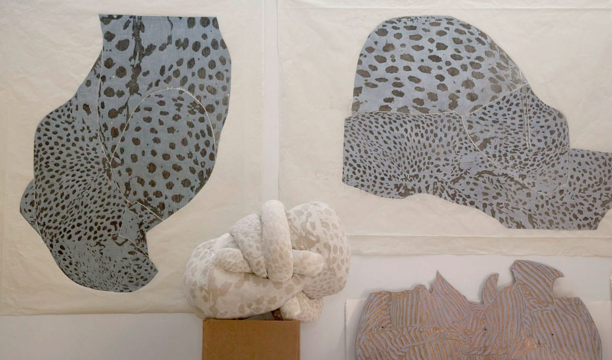 Anna Hepler, prints and sculpture from Blind Spot at University of Maine Art Museum