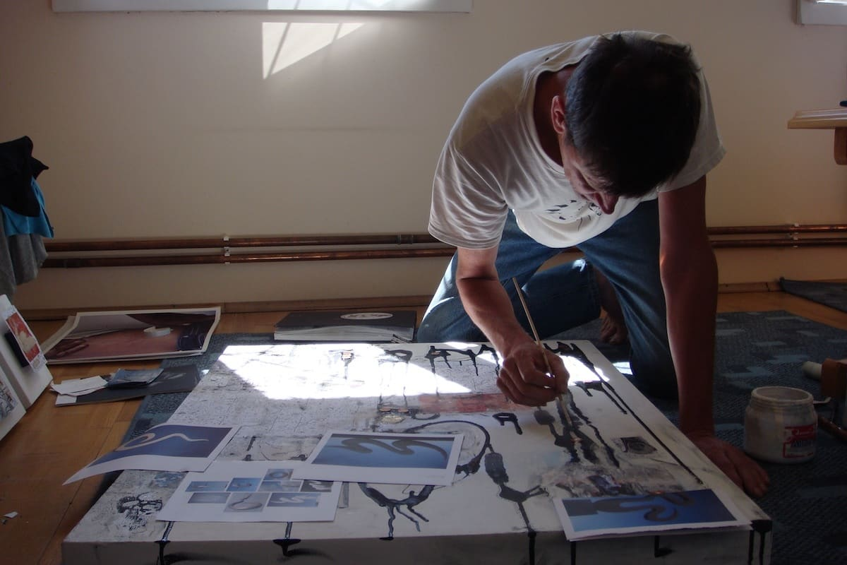 Klaus in his studio in Romania, summer of 2007. Photo courtesy of Small Batch Books.