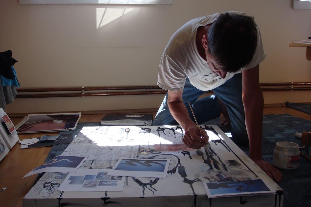 Klaus in his studio in Romania, summer of 2007. Photo courtesy of Small Batch Books.