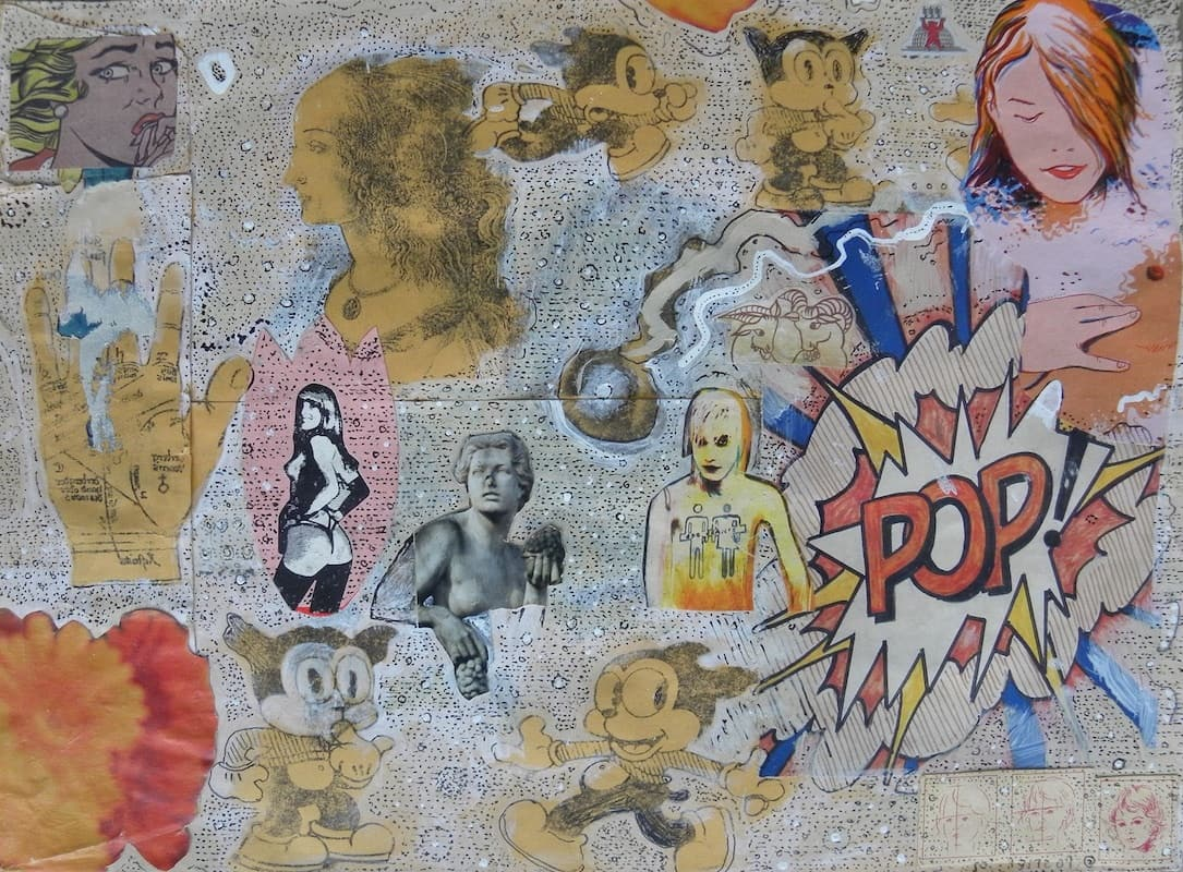 Pop, 2005, mixed media, 8.75 × 12 in. Photo courtesy of Small Batch Books.