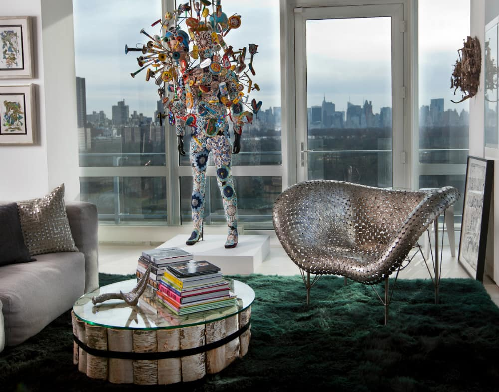 Half Dollar Chair (2013) in the Manhattan home of a private collector,photo by Jamie Diamond