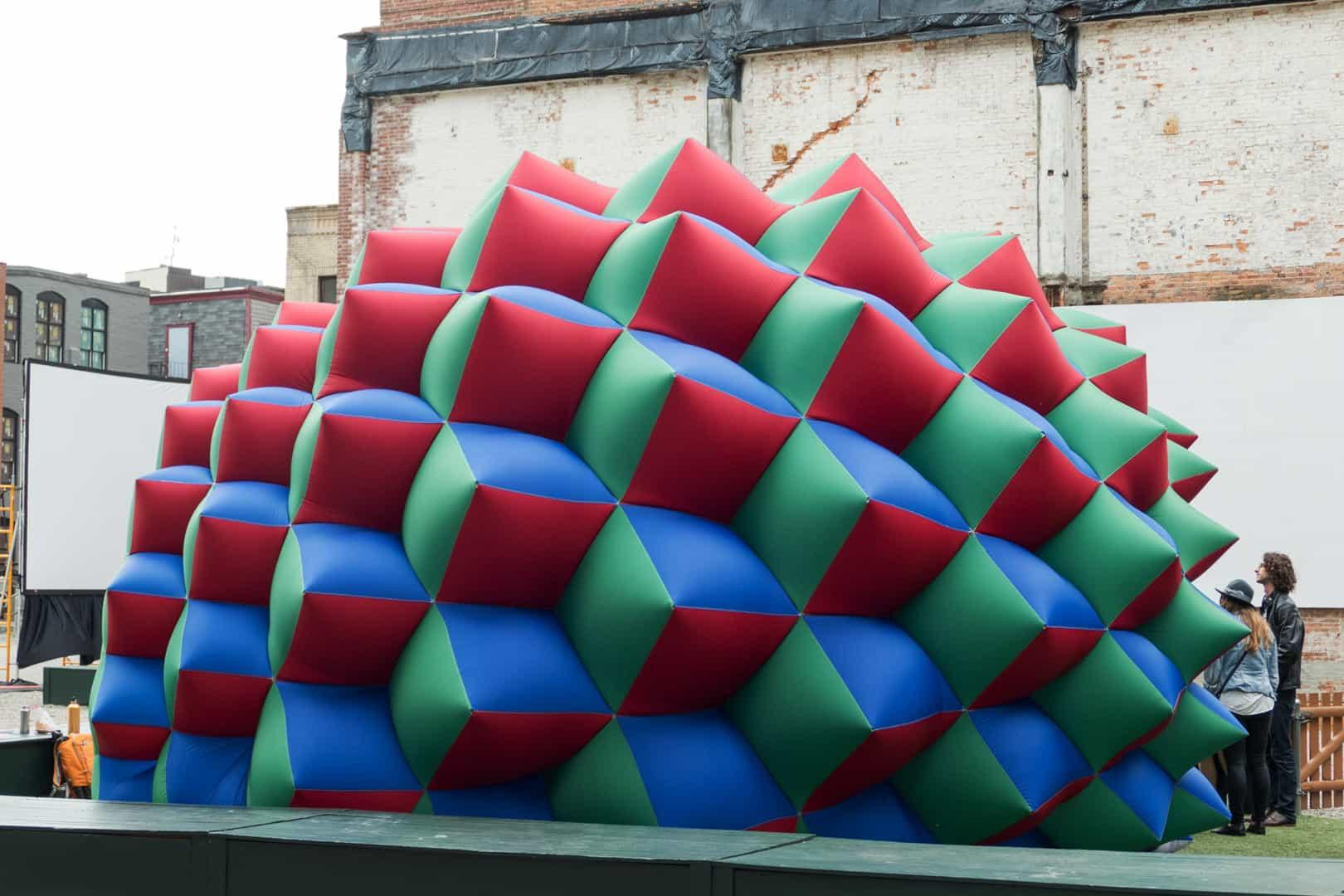 Fabric Prism No. 2, photo courtesy of Pneuhaus