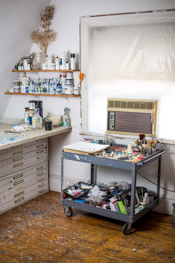 Susan Schwalb's studio. Photo by Izzy Berdan