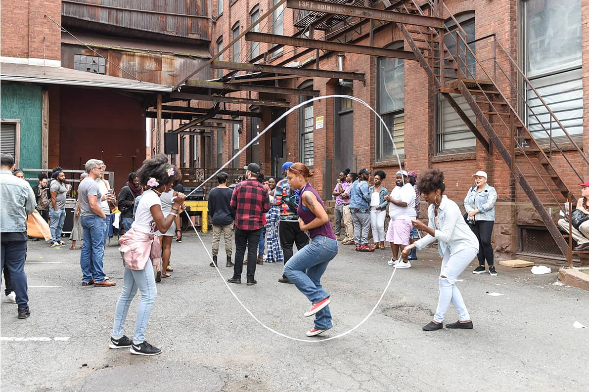 Double Dutch at the Negus x BL&D Block Party in Hartford, Connecticut. Photo by Bethany Anna