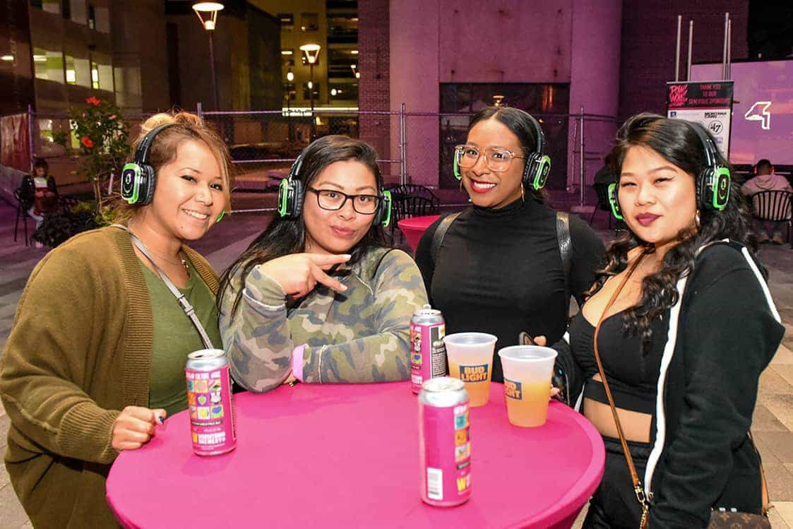 Silent disco at the POW! WOW! Worcester closing party. Photo by Bethany Anna