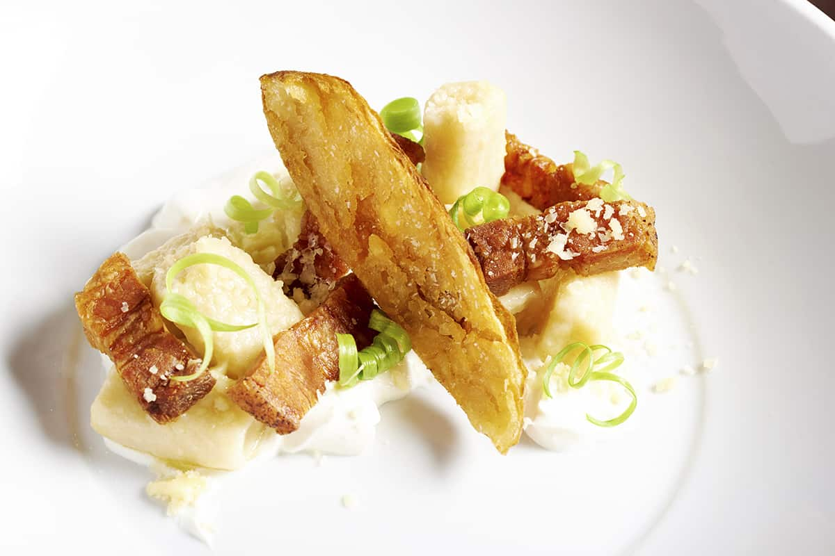Birch on Elm: A deconstructed Loaded Baked Potato. Photo by Dominic Perri