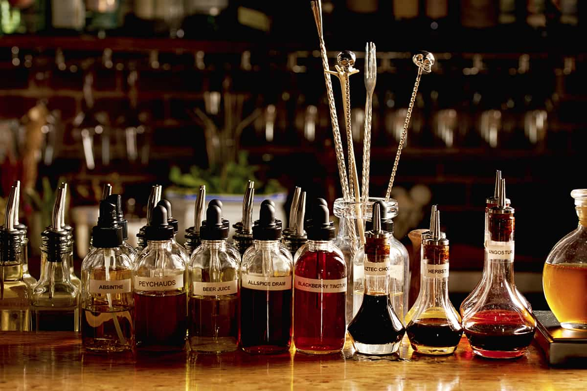 A selection of house-made syrups and infusions at The Birch on Elm. Photo by Dominic Perri