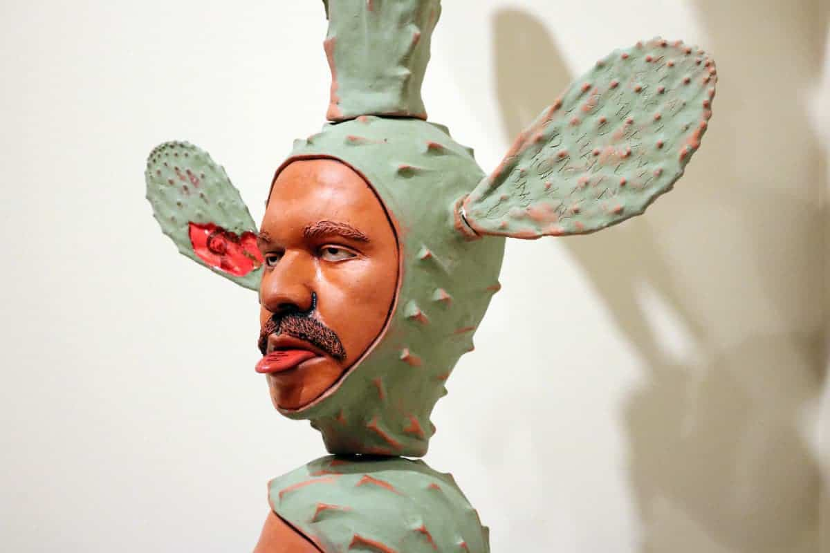 Salvador Jiménez-Flores, The Resistance of the Hybrid Cacti, detail, 2017, terra cotta. Photo by Salvador Jiménez-Flores