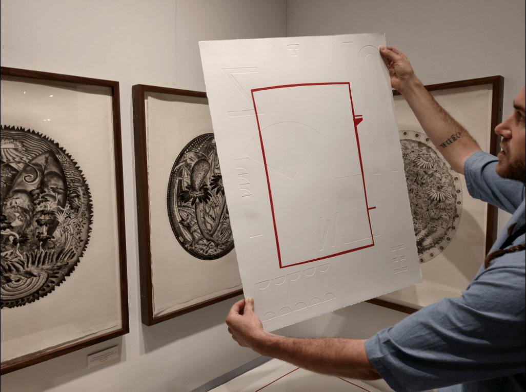 art miami, James Pettemgill of Wingate Studios showing an Elizabeth Atterbury print