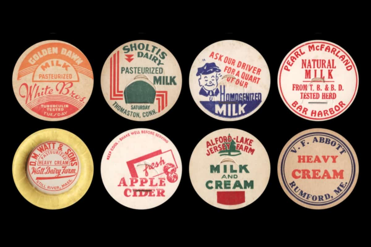 Holy Cow! Vintage Milk Caps Around New England