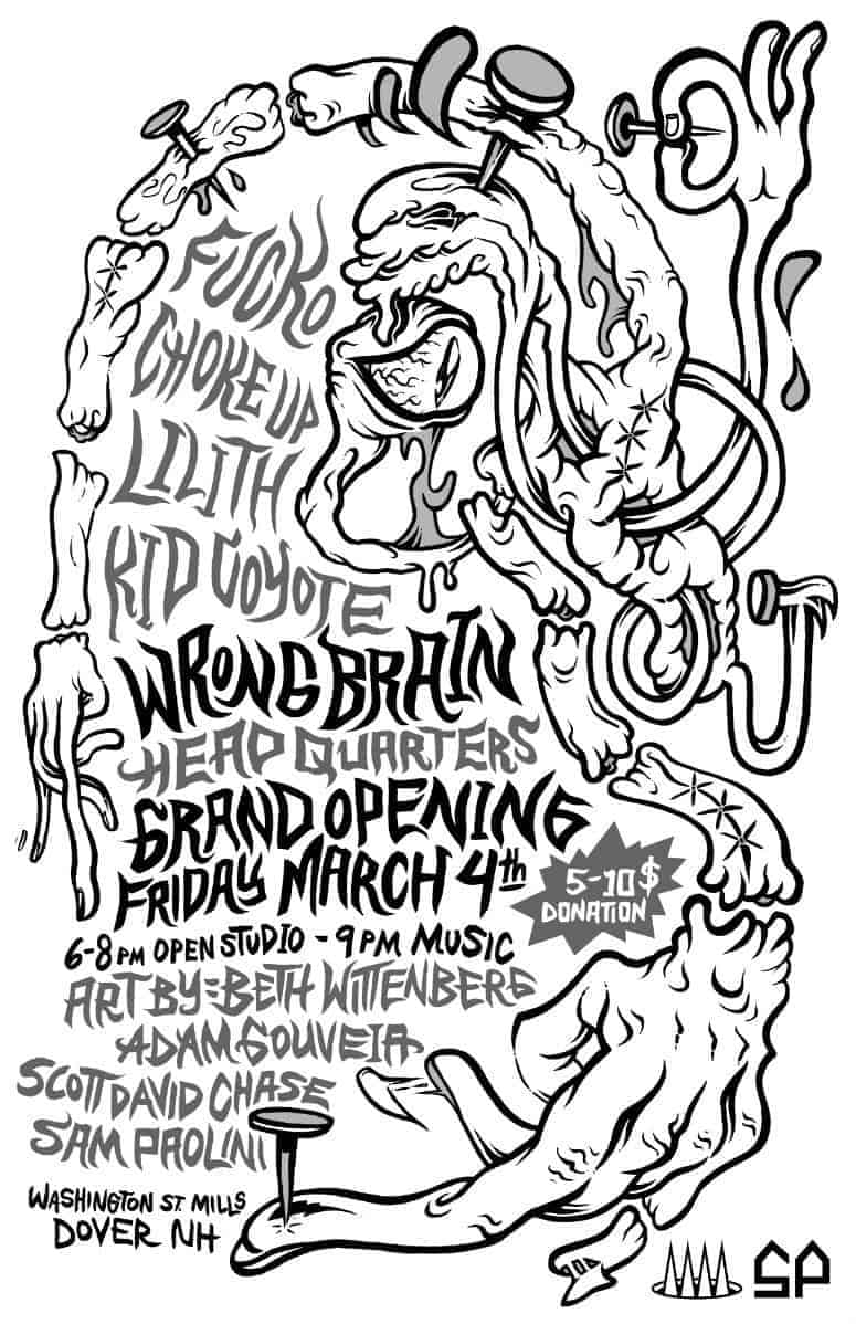 Sam Paolini and Adam Gouveia, Grand Opening, Wrong Brain poster
