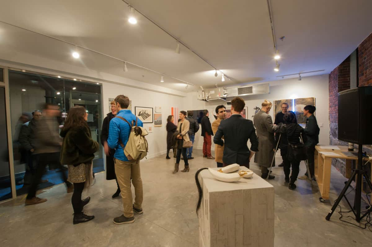 Cambridge-based A R E A gallery celebrated the opening of its second home in the SoWa neighborhood of Boston on December 1, 2017. Photo by Melissa Ostrow